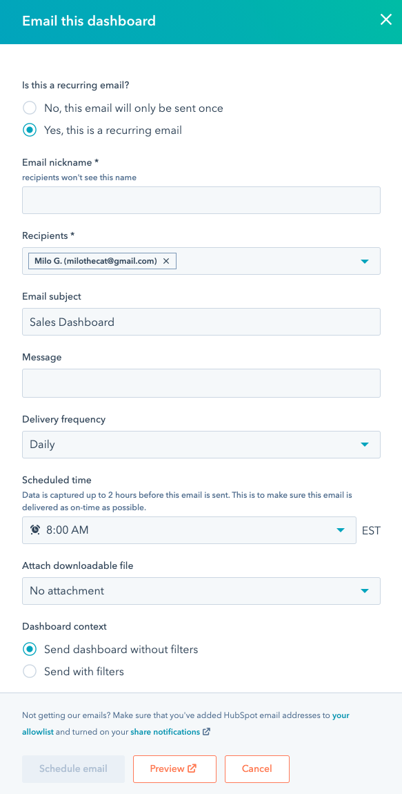 dashboard-set-up-recurring-email